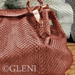 Gleni's new collection of women's handbags in genuine python and anaconda leather