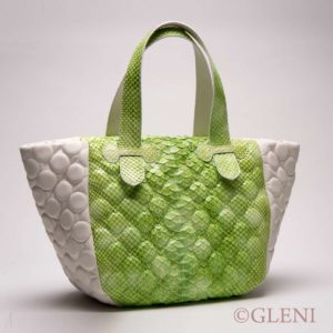 Luxury fluo green colored bag