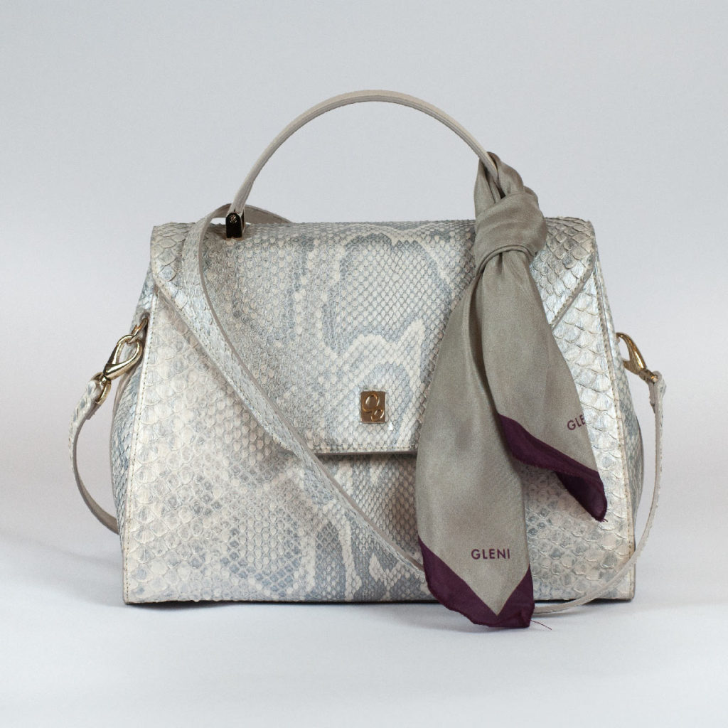 Italian luxury puthon bag