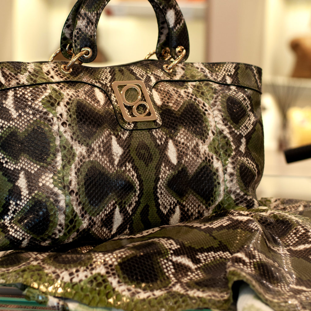Python leather natural design
