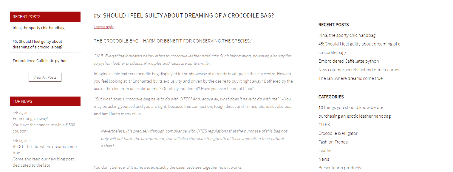 BLOG: Should i feel guilty about dreaming of a crocodile bag?