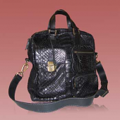 Travel or Professional Bag  in genuine python leather