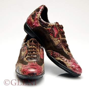 Luxury man python shoes