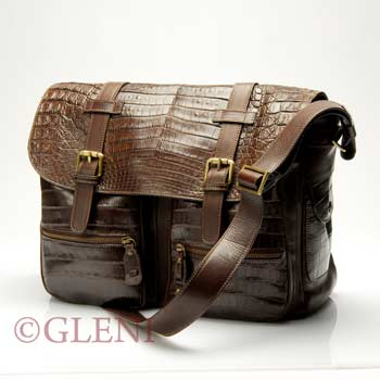 Professional and travel bag in genuine crocodile