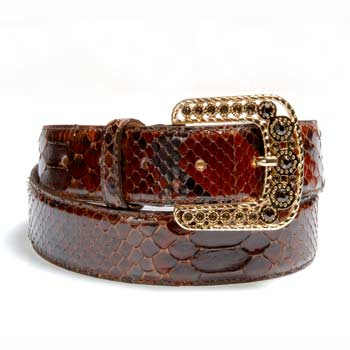 Highly feminine genuine python leather belt