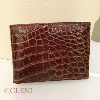 Genuine crocodile wallet for man