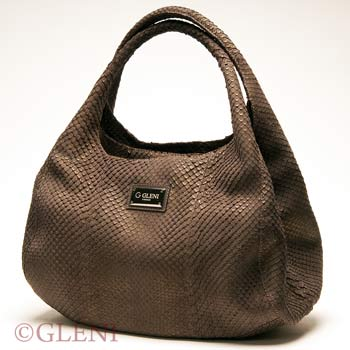 Anaconda hobo bag with golden effects