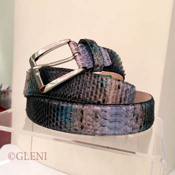 Python belt with blue shades