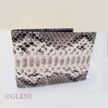 Elegant men python wallet in shiny roccia tonality
