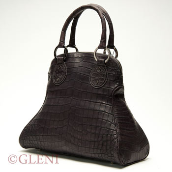 Woman bag in genuine crocodile leather