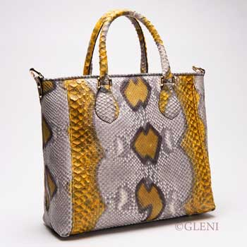 Python bag in roccia and yellow tonality