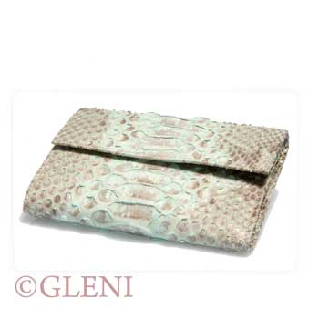 Acquamarine python wallet for woman