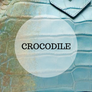 Genuine crocodile and alligator leather handbags