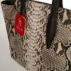 shopper bag in genuine python leather made in Italy