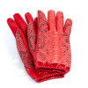 Genuine python leather gloves with tassel detail