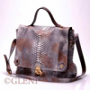 Refined woman python briefcase