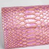 Wallet in genuine python leather