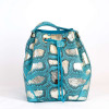 Medium sized bucket bag in turquoise color by GLENI