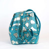 Shoulder bag by GLENI in turquoise color and shiny details