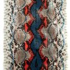 Coral python leather by GLENI