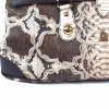genuine embroidered python bag by Gleni