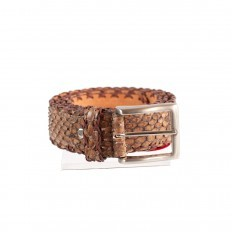 Belt 104 Cross in front cut python Reticulatus by GLENI