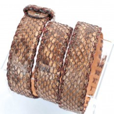 Made in Italy belt in front cut Python Reticulatus