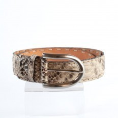 Belt 104 in matte Python Reticulatus by GLENI