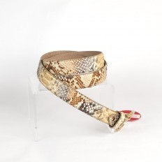 "Woman python belt in ""Nilo Oro"" tonality"