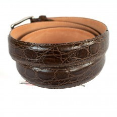 Belt 41 in genuine crocodile leather