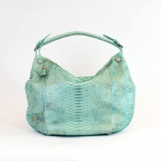 Hobo in turquoise python