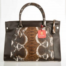 shopper bag in genuine python made in Italy