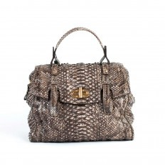Women's python handbag with original quilted effect model 5019