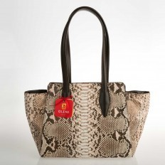 shopper bag in roccia color bronze effect