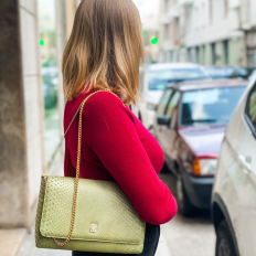Giulia, green clutch by Gleni