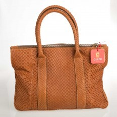 Tote bag in genuine anaconda leather Gleni