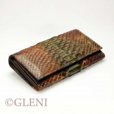 Superb women's wallet ASS-1 in python leather