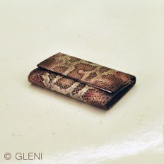 cherry wallet in genuine python