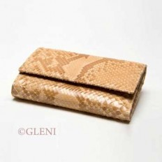 woman wallet in genuine python