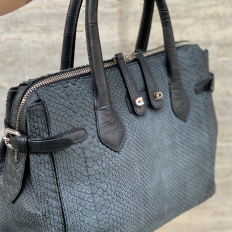 Genuine Molurus python bag 5086 in dark grey tonality by GLENI