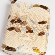 Woman wallet in Arabesque python leather