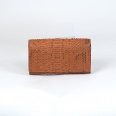 Wallet for women in salmon coloured python