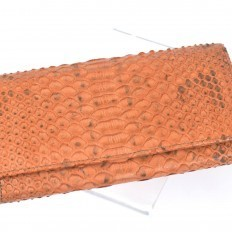 Wallet for women in salmon python
