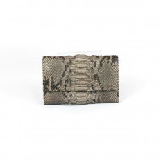 Fango wallet in genuine python leather