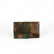 ACC/2 wallet in moss green python