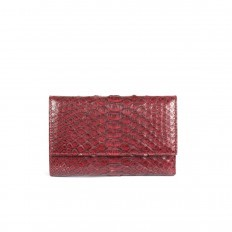 Wallet ACC/2 in red burgundy python