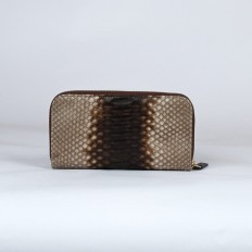 woman wallet ACC/5 in cappuccino back cut python