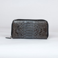 wallet ACC/5 in genuine shiny grey python leather