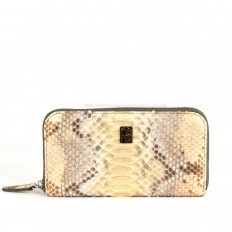 Wallet ACC/5 in genuine python leather in gold
