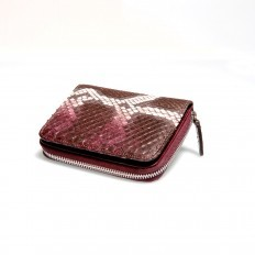Practical woman wallet ACC/6 in genuine python leather
